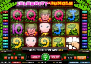 Celebrity in the Jungle Free Slot Machine Game