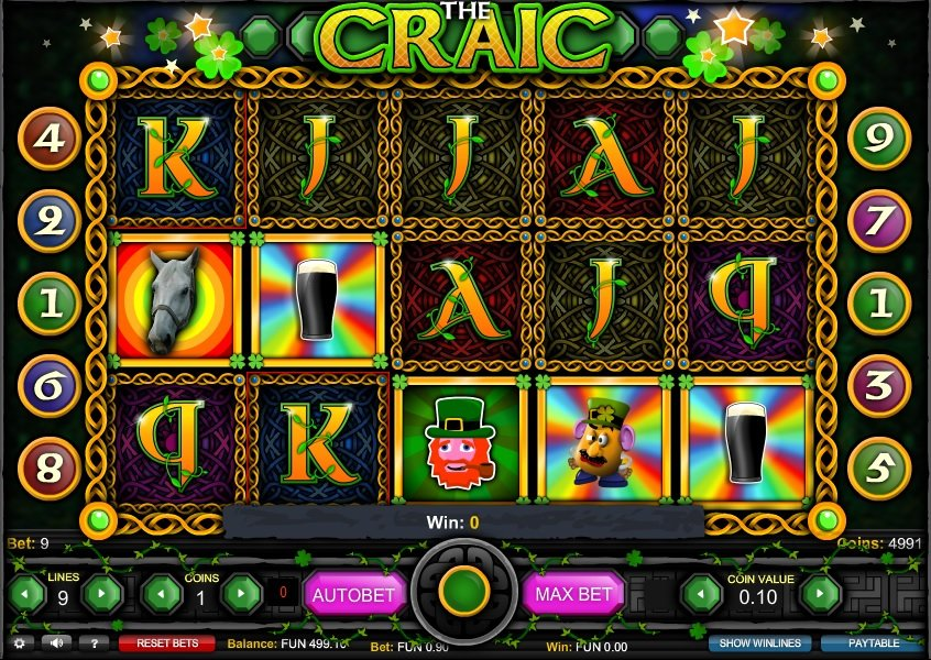 The Craic Slots - Play this Game by 1x2 Gaming Online