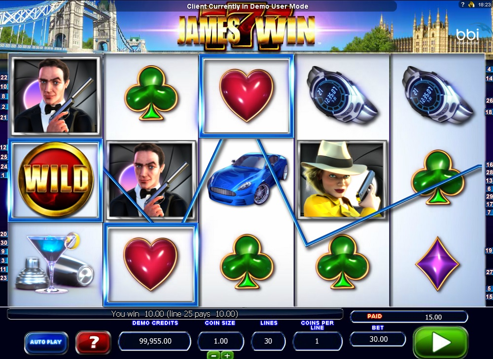 James Win Free Slot Machine Game