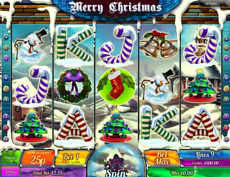 Merry Christmas Free Slot Machine Game