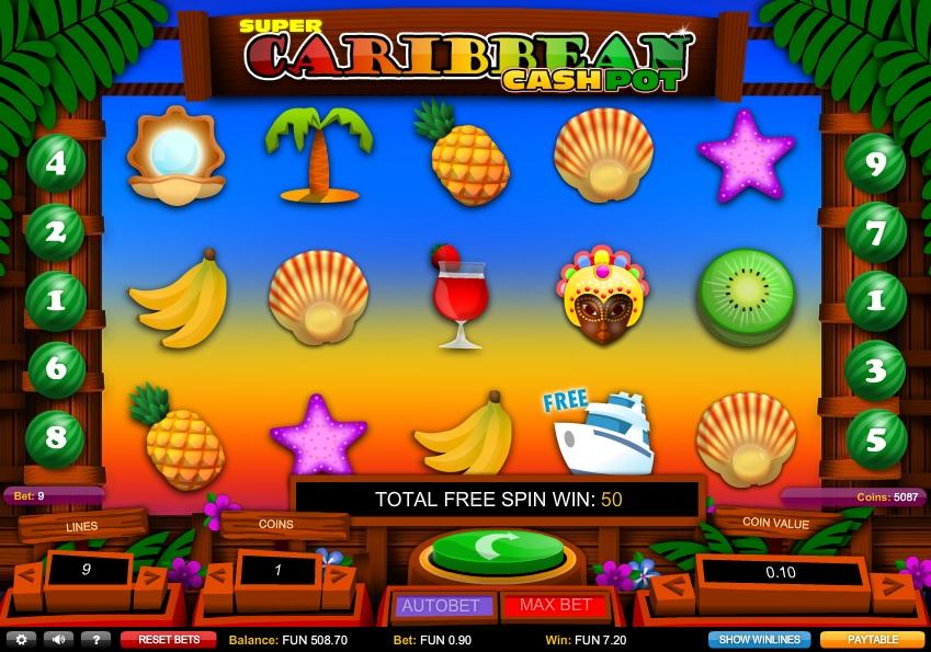 Super Caribbean Cashpot Free Slot Machine Game