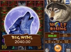 Wolf Rising Free Slot Machine Game