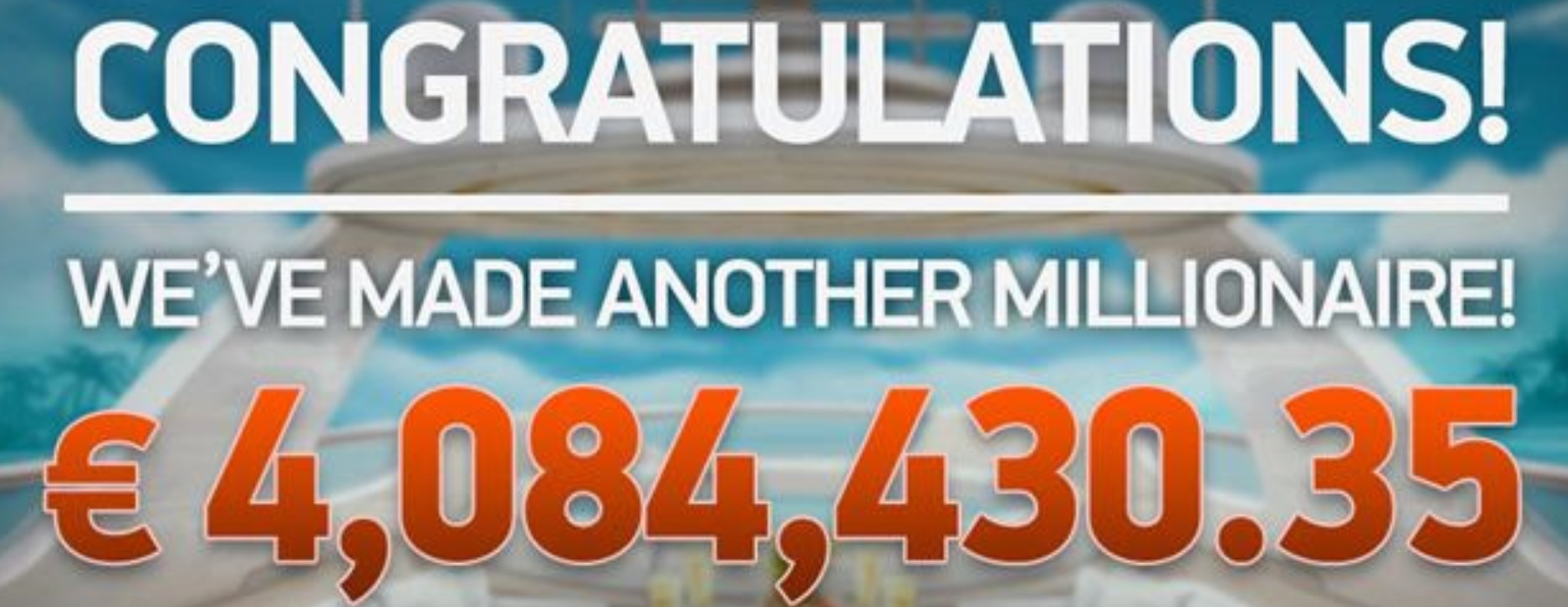 The Mega Fortune Dreams jackpot €4,084,430.35 was hit
