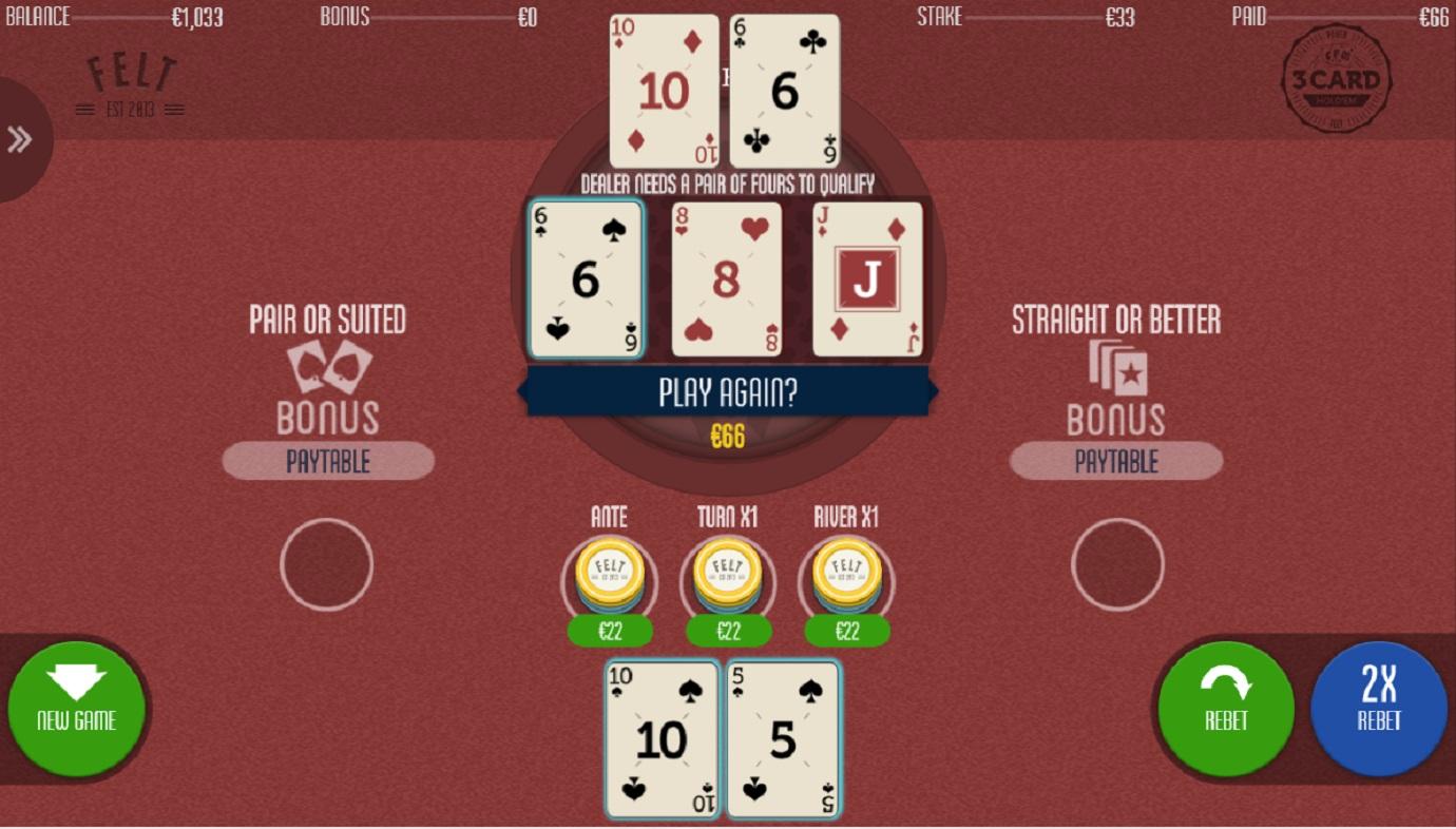 3 Card Hold'em Poker
